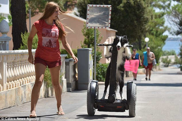 Kasia Performs More Than 180 Tricks Including How to Ride a SEGWAY