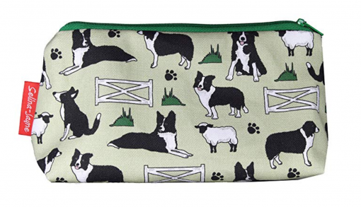 border collie toiletry bag